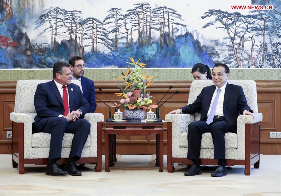 (BRF)中国 - 北京 - 李克强 - 欧盟委员会副主席(CN)