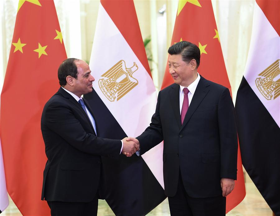 (BRF)CHINA-BEIJING-XI JINPING-EGYPTIAN PRESIDENT-MEETING (CN)