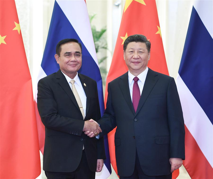 (BRF)CHINA-BEIJING-XI JINPING-THAI PM-MEETING (CN)