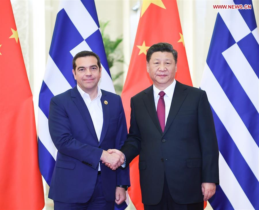 (BRF)CHINA-BEIJING-XI JINPING-GREEK PM-MEETING (CN)
