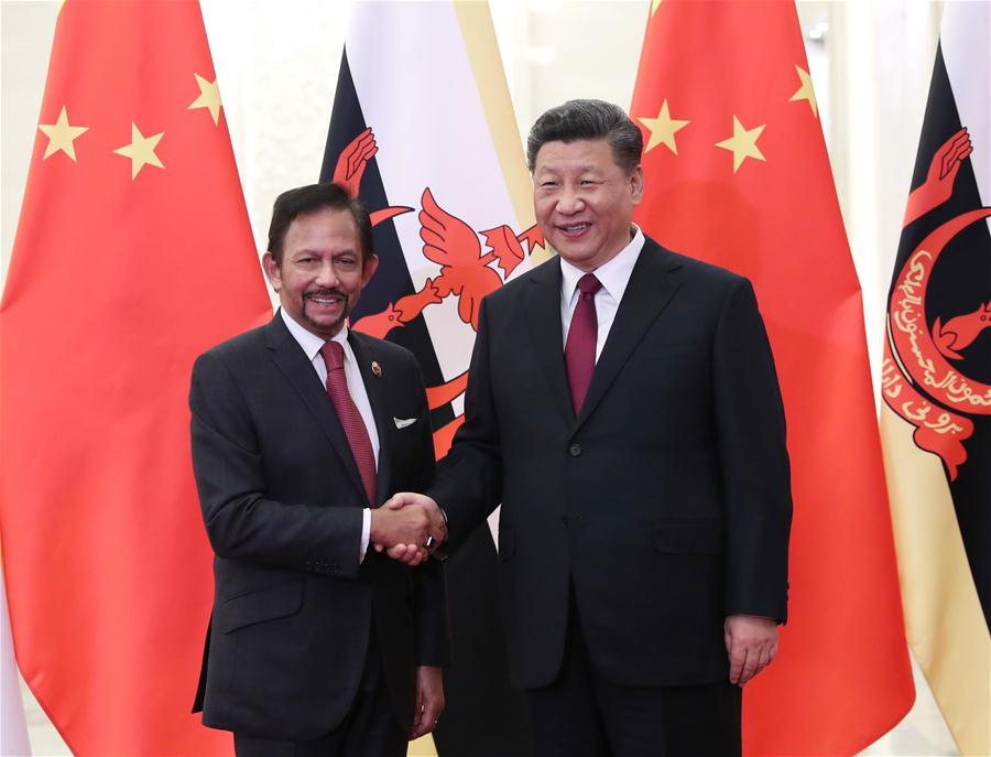 (BRF)CHINA-BEIJING-XI JINPING-BRUNEI'S SULTAN-MEETING (CN)