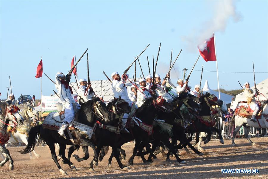 MOROCCO-CASABLANCA-HORSE SHOW-FANTASIA