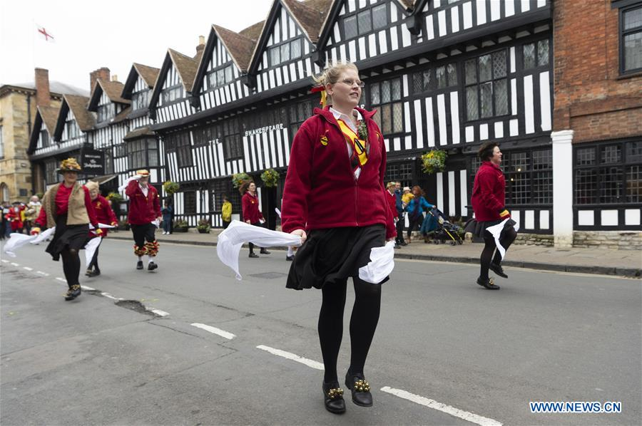 BRITAIN-STRATFORD-UPON-AVON-WILLIAM SHAKESPEARE-BIRTHDAY CELEBRATIONS