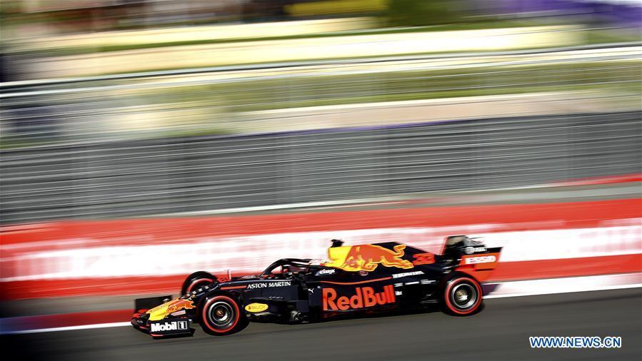 Highlights Of Qualifying Session At Baku Formula One City Circuit Xinhua English News Cn