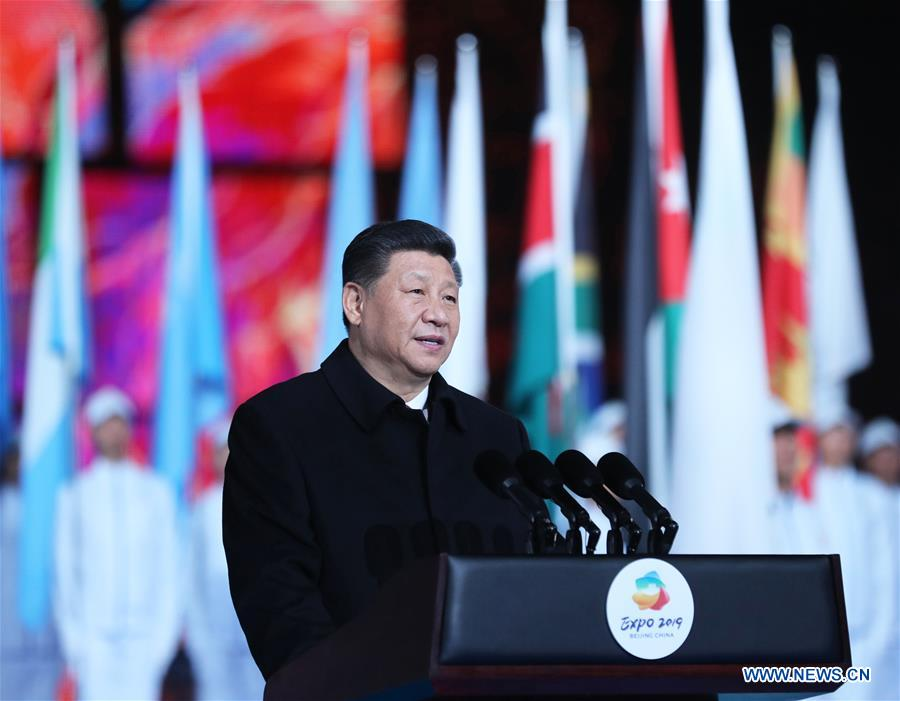CHINA-BEIJING-XI JINPING-HORTICULTURAL EXPO-OPENING (CN)