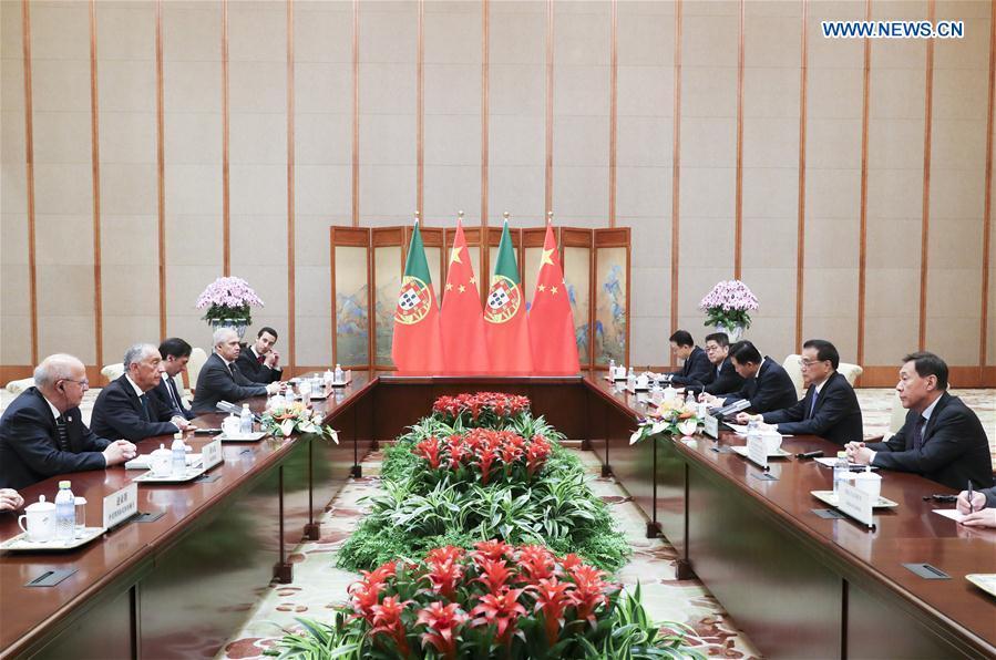 中国 - 北京 - 李克强 - 葡萄牙总统会议(CN)