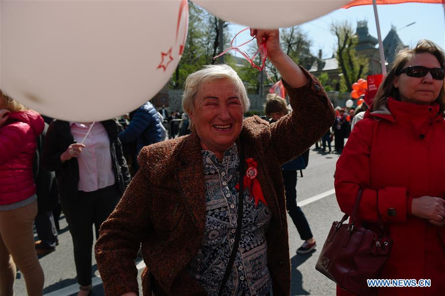 RUSSIA-MOSCOW-LABOR DAY-MARCH