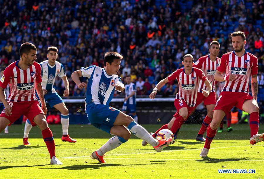 Espanyol Beats Atletico Madrid 3 0 At Spanish League Match Xinhua English News Cn