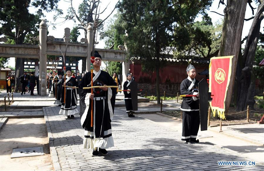 CHINA-SHANDONG-ZOUCHENG-MENCIUS-COMMEMORATION (CN)