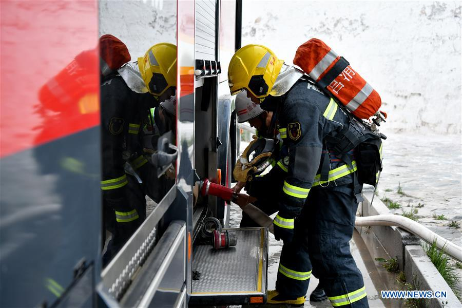 CHINA-LHASA-FIREFIGHTER-DRILL (CN)