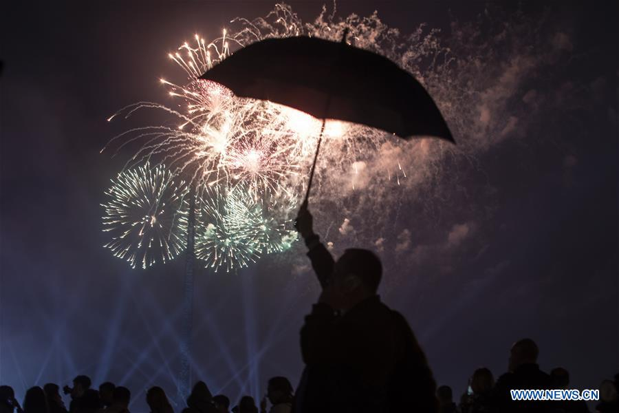 RUSSIA-MOSCOW-VICTORY DAY-FIREWORKS