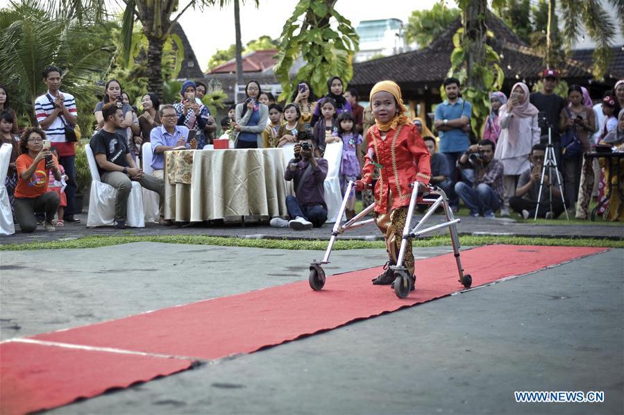 INDONESIA-YOGYAKARTA-FASHION SHOW-DISABLED CHILDREN