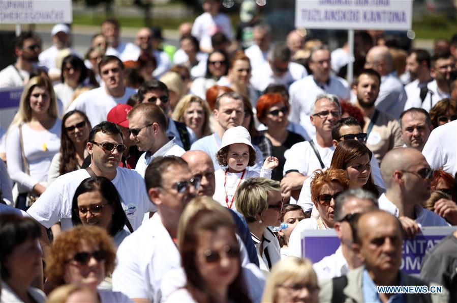 波斯尼亚和黑塞哥维那-SARAJEVO-DOCTORS PROTESTS
