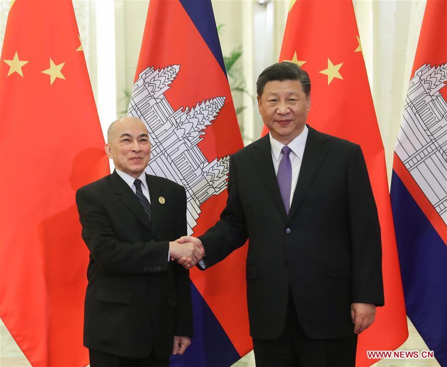 CHINA-BEIJING-XI JINPING-CAMBODIAN KING-MEETING (CN)