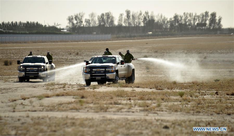 KUWAIT-AHMADI GOVERNORATE-LOCUSTS-PESTICIDE SPRAYING CAMPAIGN