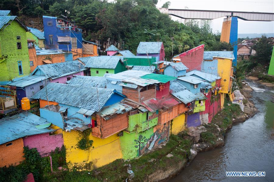 Scenery Of Jodipan Village In Malang Indonesia Xinhua English News Cn