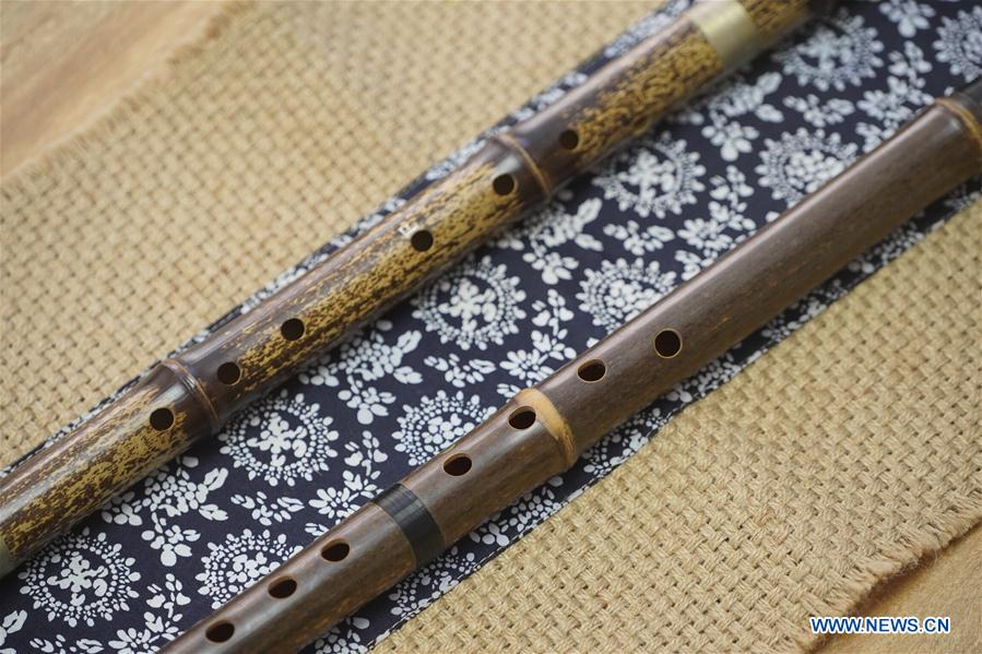 In pic: Chinese traditional musical instrument Xiao - Xinhua