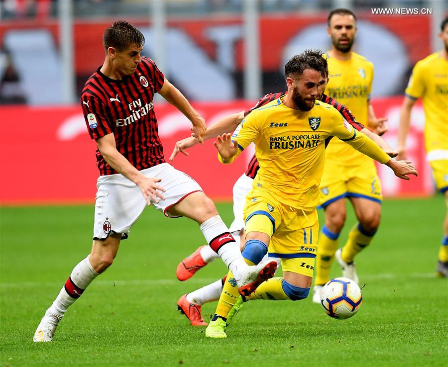 (SP)ITALY-MILAN-SOCCER-SERIE A-AC MILAN VS FROSINONE