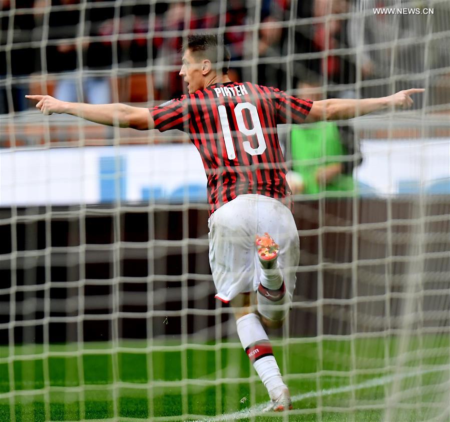 AC Milan beats Frosinone 2-0 at Serie A soccer match - Xinhua