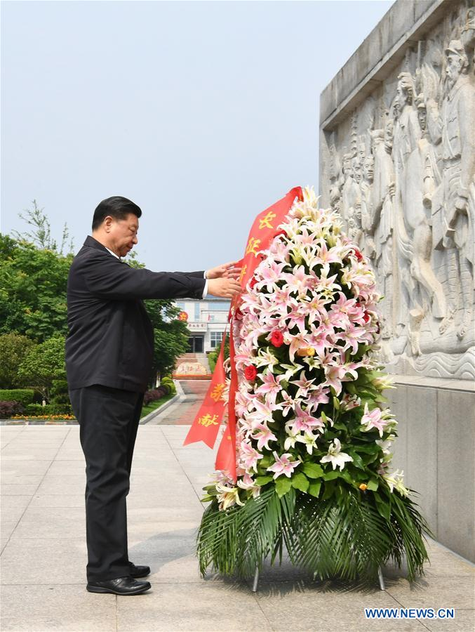 CHINA-JIANGXI-XI JINPING-LONG MARCH-MEMORIAL SITE (CN)