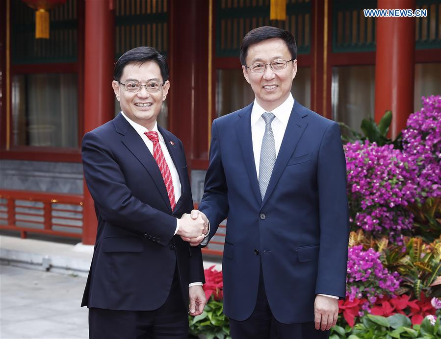 CHINA-BEIJING-HAN ZHENG-SINGAPORE-HENG SWEE KEAT-MEETING (CN)