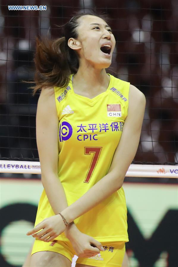 2019 FIVB Volleyball Nations League women's game: China loses to