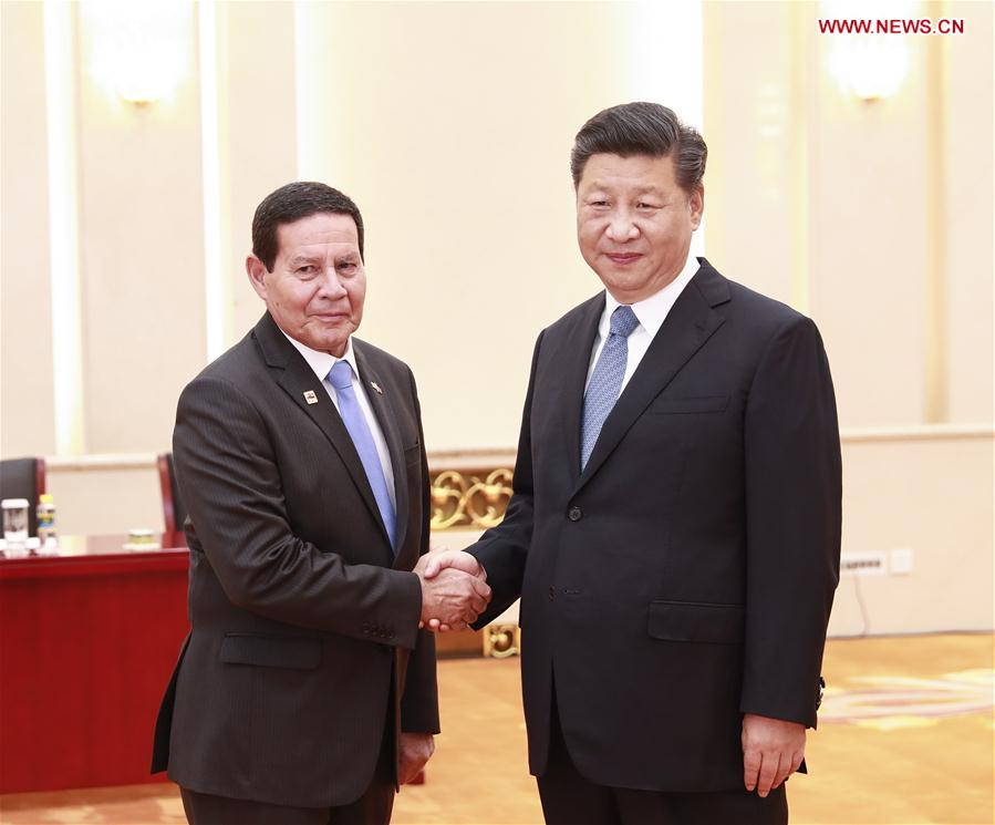 Xi meets Brazilian vice president - Xinhua | English.news.cn