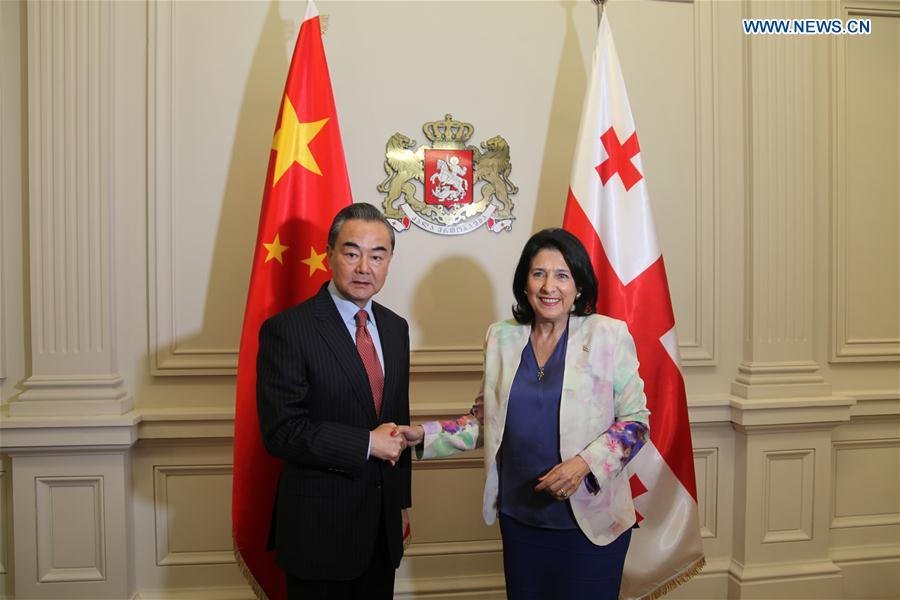 GEORGIA-TBILISI-PRESIDENT-CHINA-WANG YI-MEETING