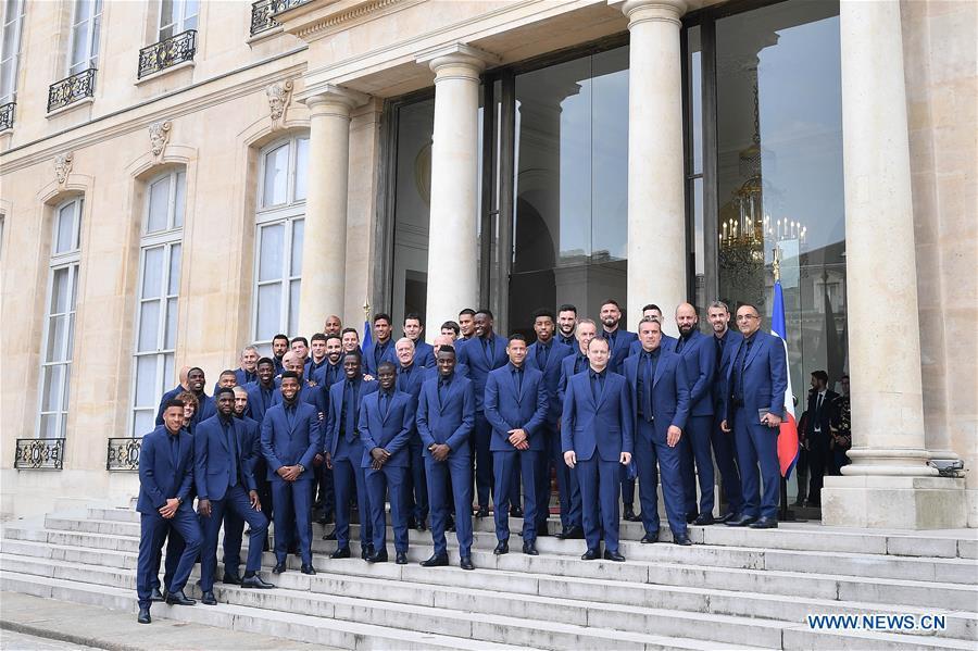 (SP)FRANCE-PARIS-FRENCH SOCCER TEAM