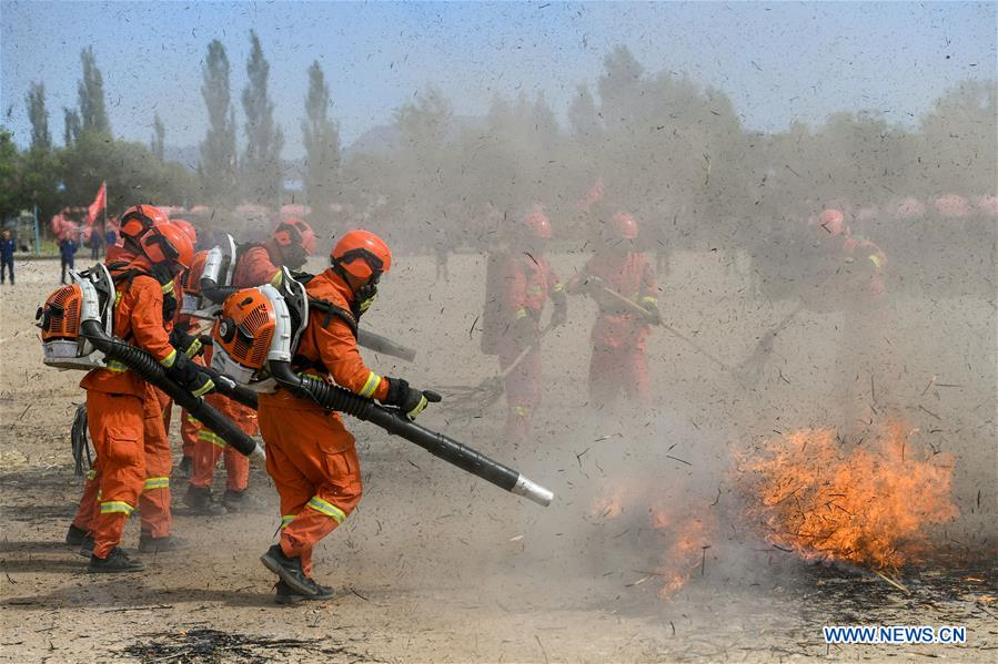 CHINA-HOHHOT-FIREMAN-TRAINING (CN)