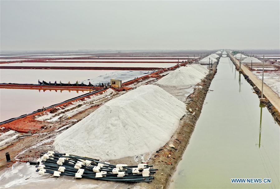 CHINA-HEBEI-CAOFEIDIAN-SEA SALT-HARVEST (CN)