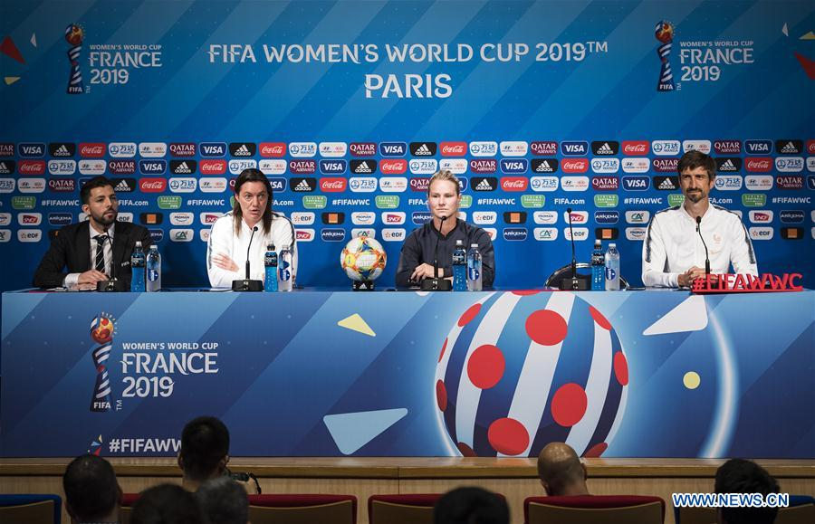 Press conference of 2019 FIFA Women's World Cup held in