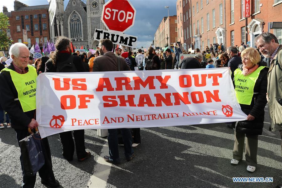 爱尔兰都柏林美国抗议