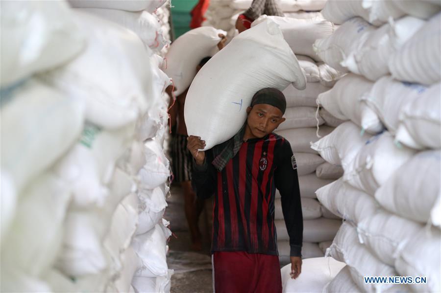 缅甸 - 仰光 - 中国 - 水稻出口