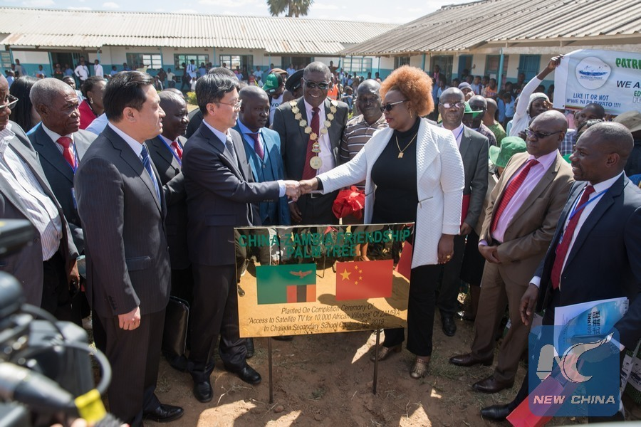China hands over completed village TV project in Zambia