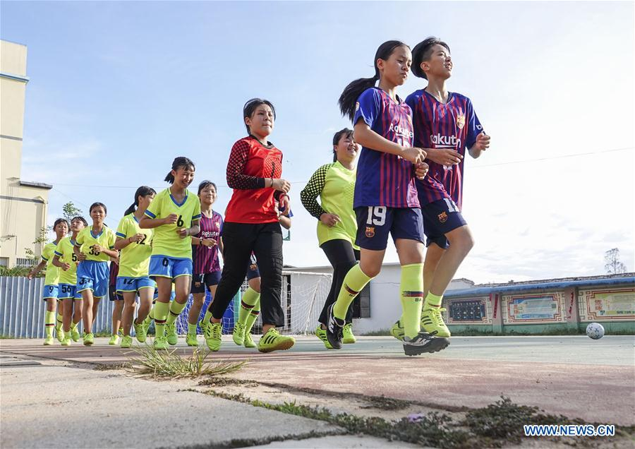 #CHINA-GUANGXI-SHANGSI-FOOTBALL GIRLS (CN)