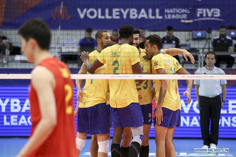 (SP)葡萄牙 - 冈底 - 排球 - 国际联盟 - 中国与巴西