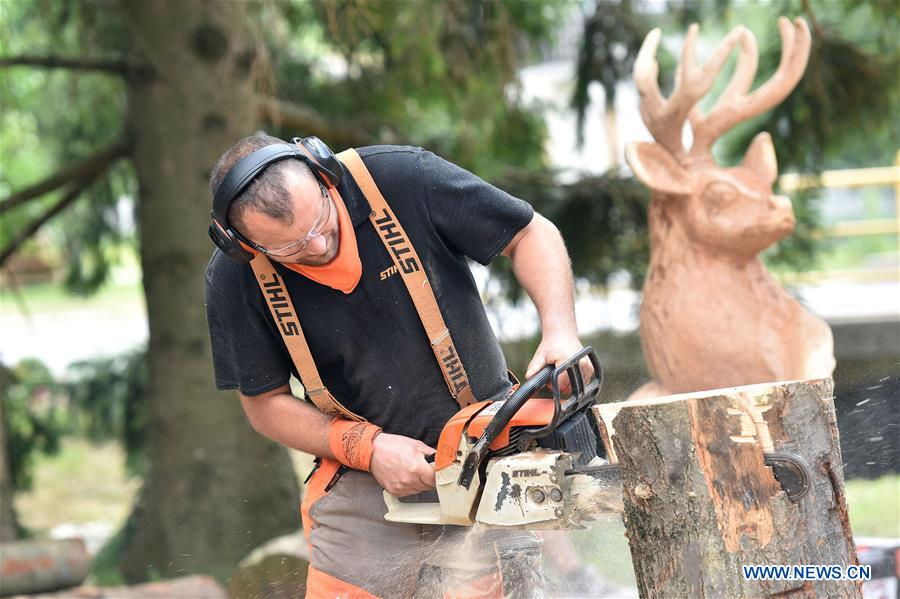 CROATIA-SALINOVEC-CHAINSAW CARVING FESTIVAL