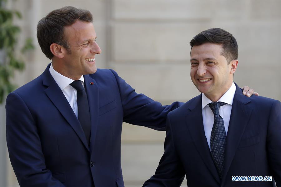 FRANCE-PARIS-PRESIDENT-UKRAINE-PRESIDENT-MEETING