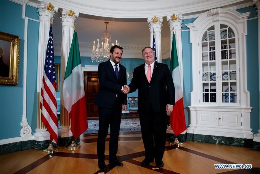 U.S.-WASHINGTON D.C.-POMPEO-ITALY-DEPUTY PM-MEETING