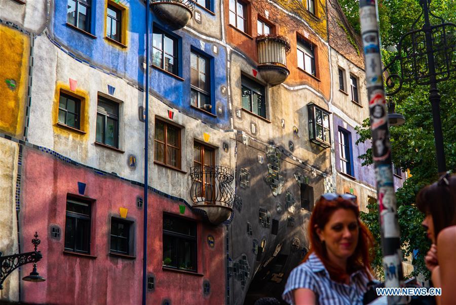 Scenery Of Hundertwasser House In Vienna Austria Xinhua English