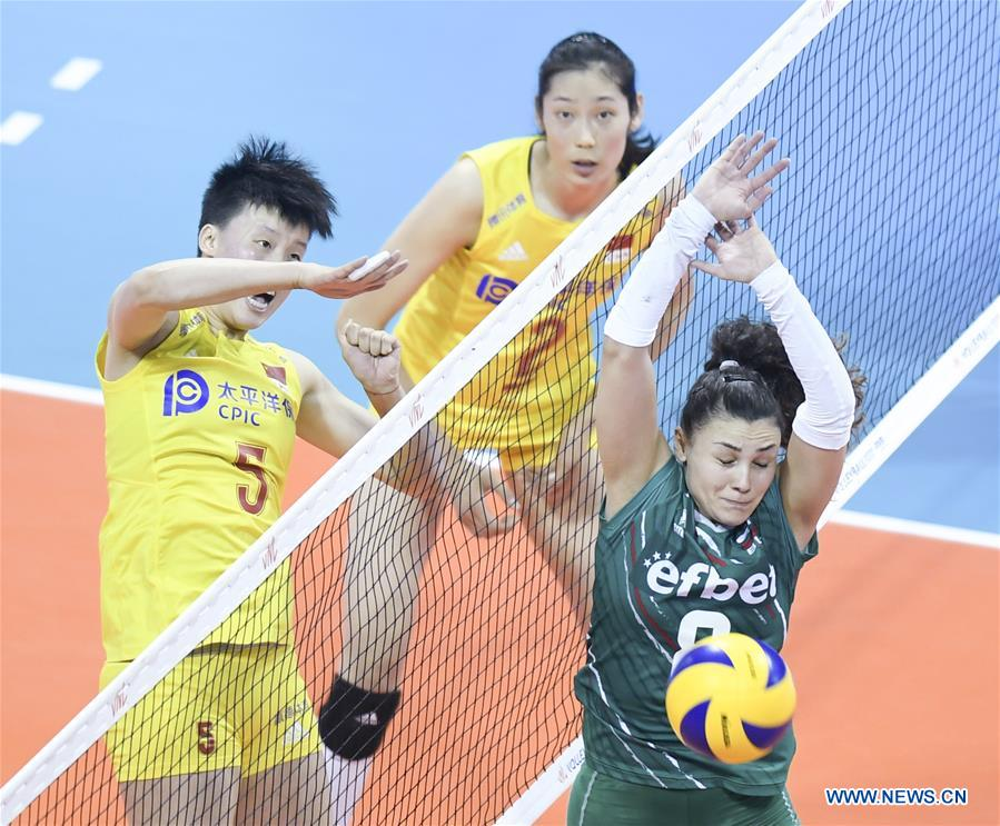 FIVB Volleyball Nations League 2019: China vs  Bulgaria - Xinhua