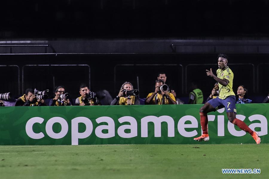 (SP)BRAZIL-RIO DE JANEIRO-SOCCER-COPA AMERICA 2019-COLOMBIA VS QATAR