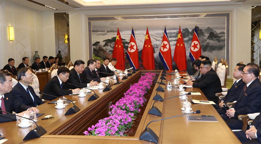 DPRK-PYONGYANG-CHINA-XI JINPING-KIM JONG UN-TALKS