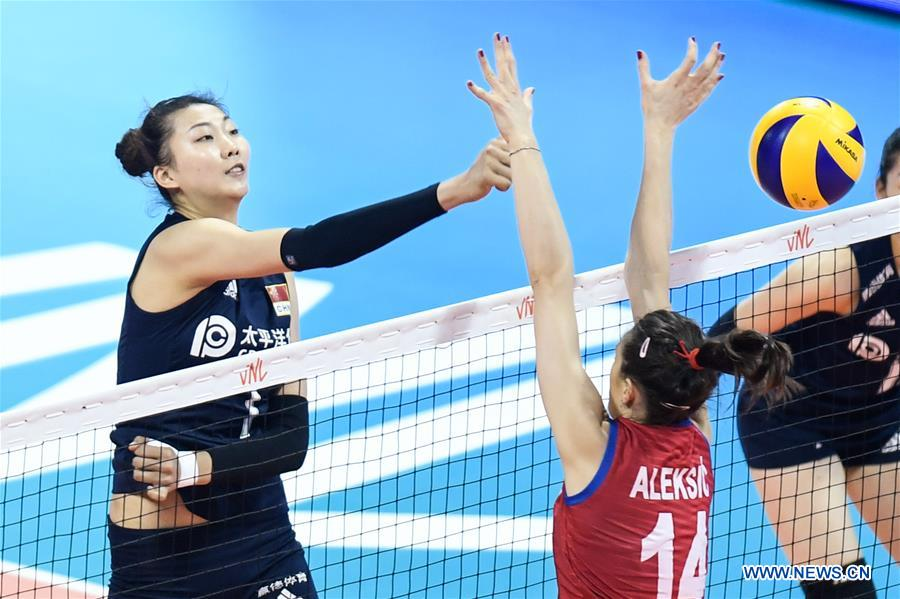 FIVB Volleyball Nations League 2019: China vs  Serbia - Xinhua