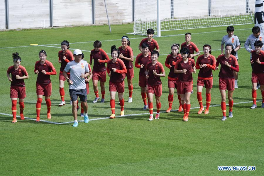(SP)FRANCE-MONTPELLIER-2019 FIFA WOMEN'S WORLD CUP-ROUND OF 16-CHINA-TRAINING SESSION