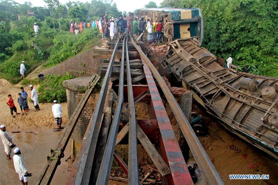 4 killed, 100 injured in train derailment in Bangladesh - Xinhua