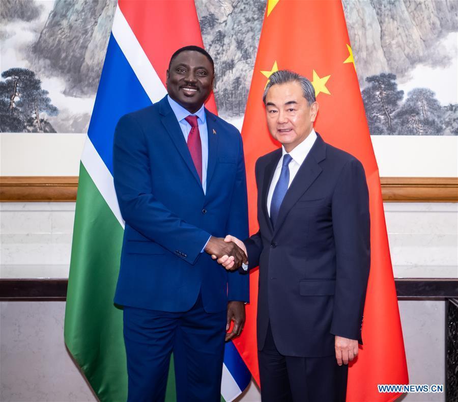 CHINA-BEIJING-WANG YI-GAMBIA-FM-MEETING (CN)