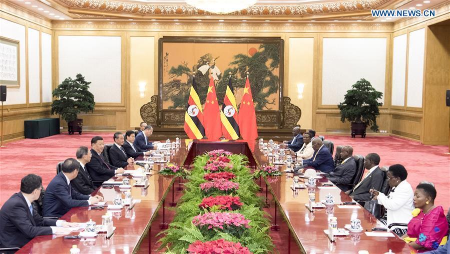 CHINA-BEIJING-XI JINPING-UGANDAN PRESIDENT-TALKS(CN)