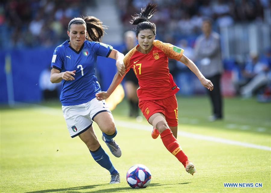(SP)FRANCE-MONTPELLIER-2019 FIFA WOMEN'S WORLD CUP-ROUND OF 16-ITA VS CHN-WARM-UP